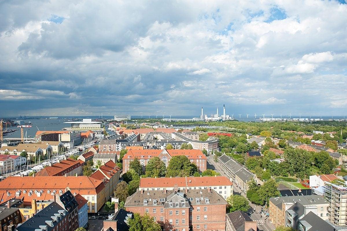 Copenhagen travel photography from wanderlust traveler Sometimes Home, photographer Mikkel Paige. Aerial view. #sometimeshome #copenhagen #whiskedaway