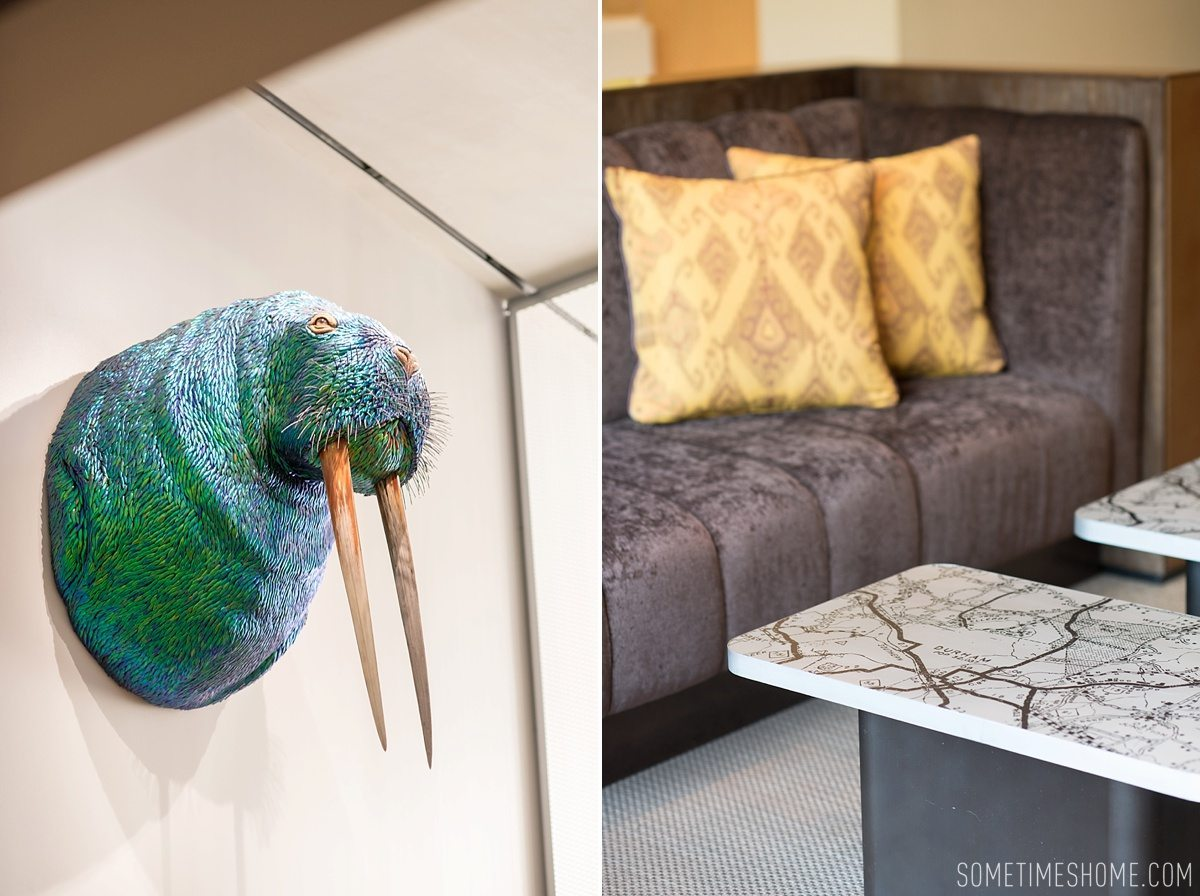21c Durham boutique hotel photos by Mikkel Paige for travel blog Sometimes Home. Modern art in North Carolina.
