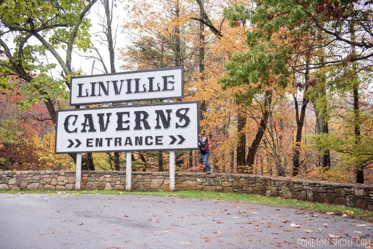 Boone, North Carolina fall foliage travel photos by Mikkel Paige Photography, Raleigh wedding photographer. Sometimes Home 30-something travel blogger. Linville Caverns tour for a rainy day.