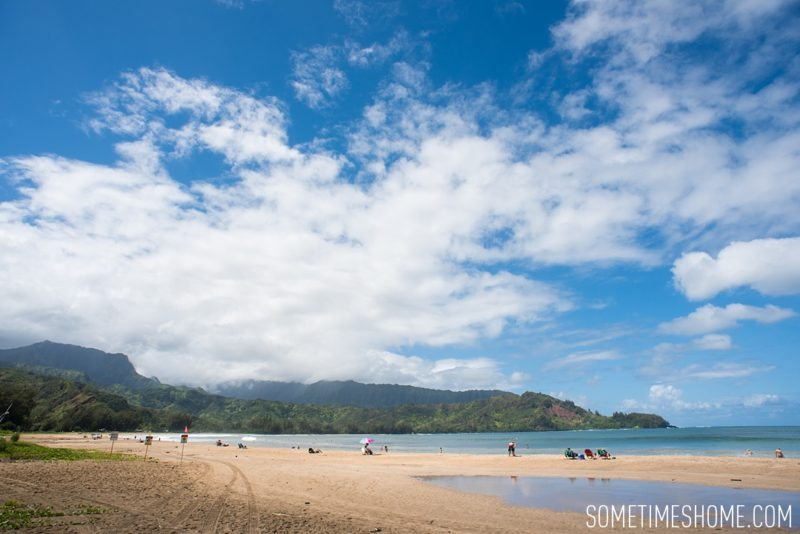 What to do and see in north Kauai, Hawaii, Hanalei Bay photo on Sometimes Home travel blog by Mikkel Paige.