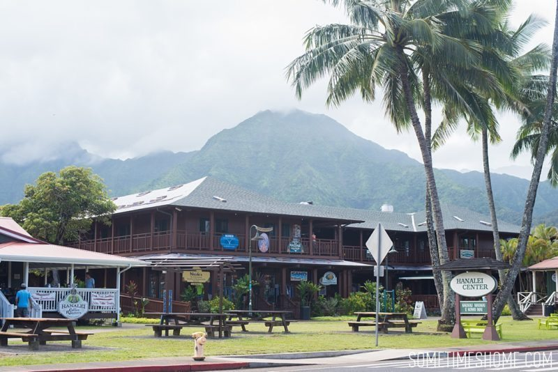 What to do and see in north Kauai, Hawaii, Hanalei Bay town photo on Sometimes Home travel blog by Mikkel Paige.