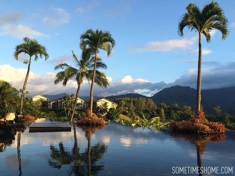 Things to do and see in north Kauai, Princeville. The St. Regis has great cocktails and views of Hanalei Bay. Images for Sometimes Home travel blog by Mikkel Paige.