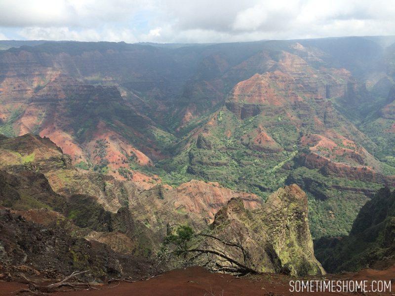 Travel tips on Hawaii, south and east ends of Kauai island by Mikkel Paige. Photos of Waimea Canyon.