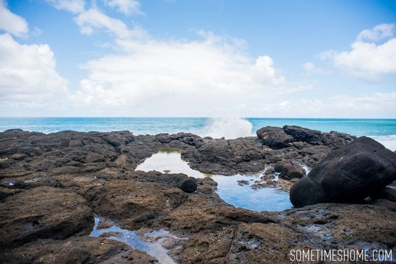 Queens Bath in Princeville, on Kauai, Hawaii. What to do and see in the north end of the island by Sometimes Home travel blog with images by Mikkel Paige.
