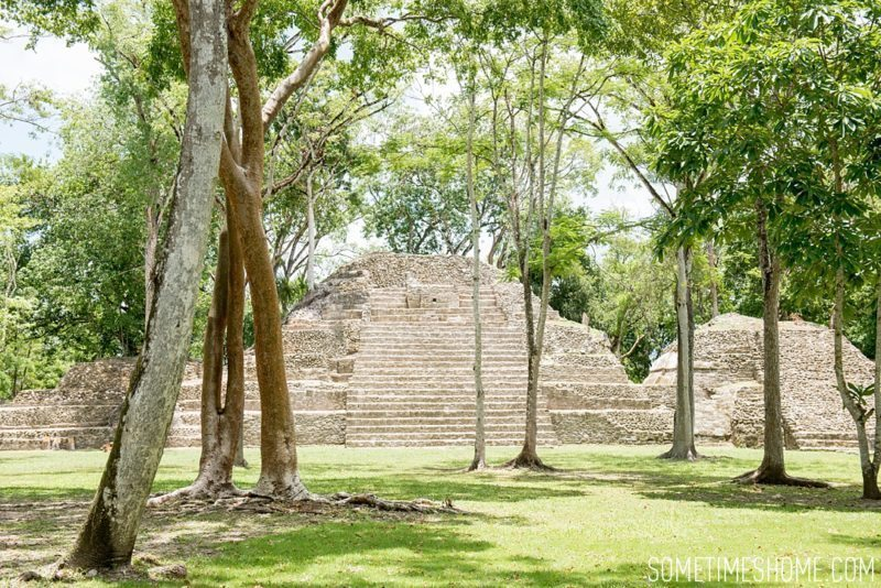 Sometimes Home travel blog Belize information including Cahal Pech Mayan Ruins images.