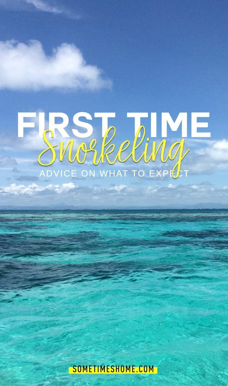 Caribbean Sea barrier reef first-time snorkeling trip by travel blogger Sometimes Home. Photo by Mikkel Paige.