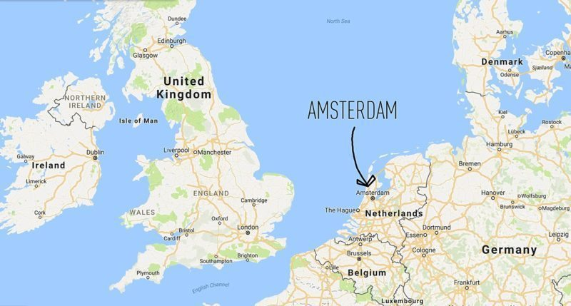 10 Things to do in Amsterdam Besides Smoke Pot by travel blog Sometimes Home with a placement map of the area within The Netherlands.