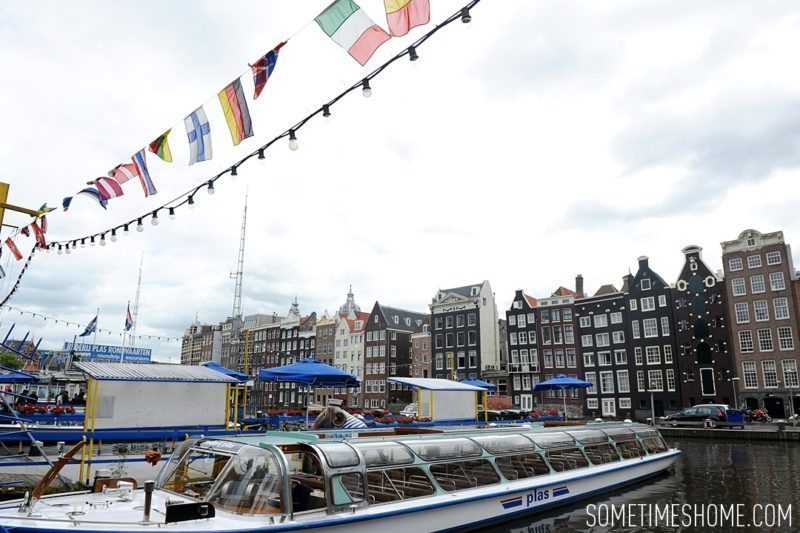 Things to do in Amsterdam besides smoking pot by travel blog Sometimes Home. Closed canal boat tour option.