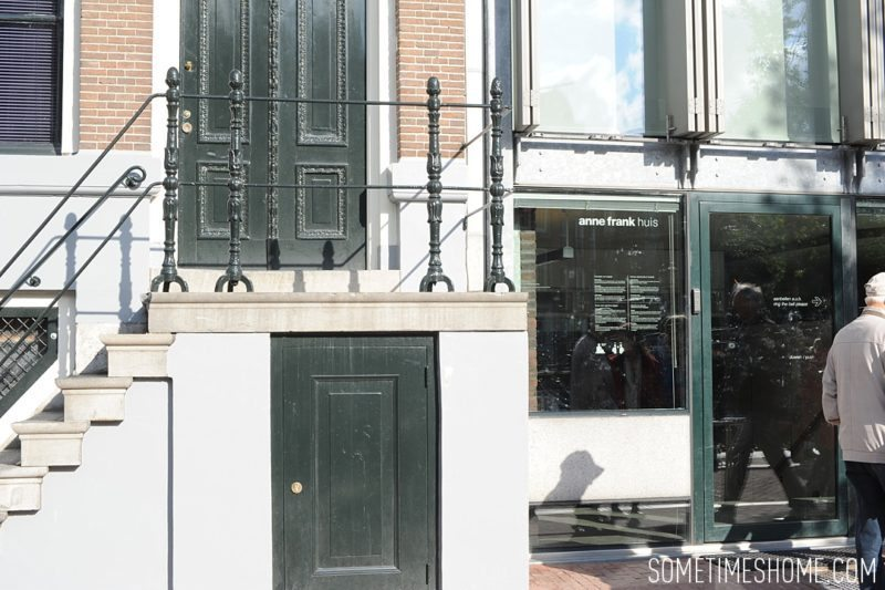 Things to do in Amsterdam besides smoking pot by travel blog Sometimes Home. Photo by Anne Frank House.