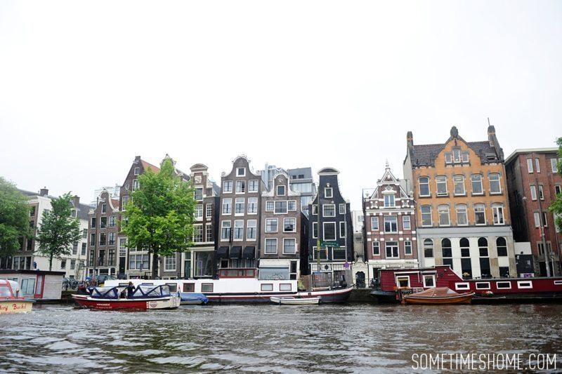 Things to do in Amsterdam besides smoking pot by travel blog Sometimes Home. View of the canals.