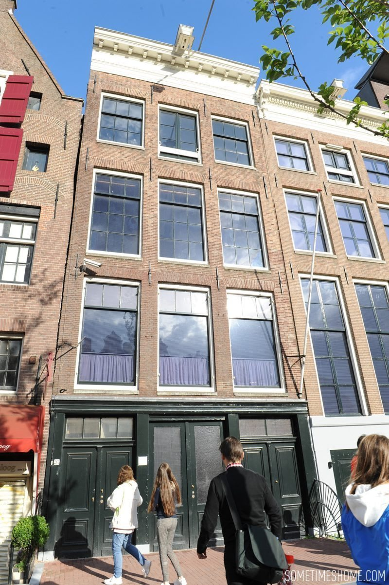 Things to do in Amsterdam besides smoking pot by travel blog Sometimes Home. Photo of Anne Frank House.