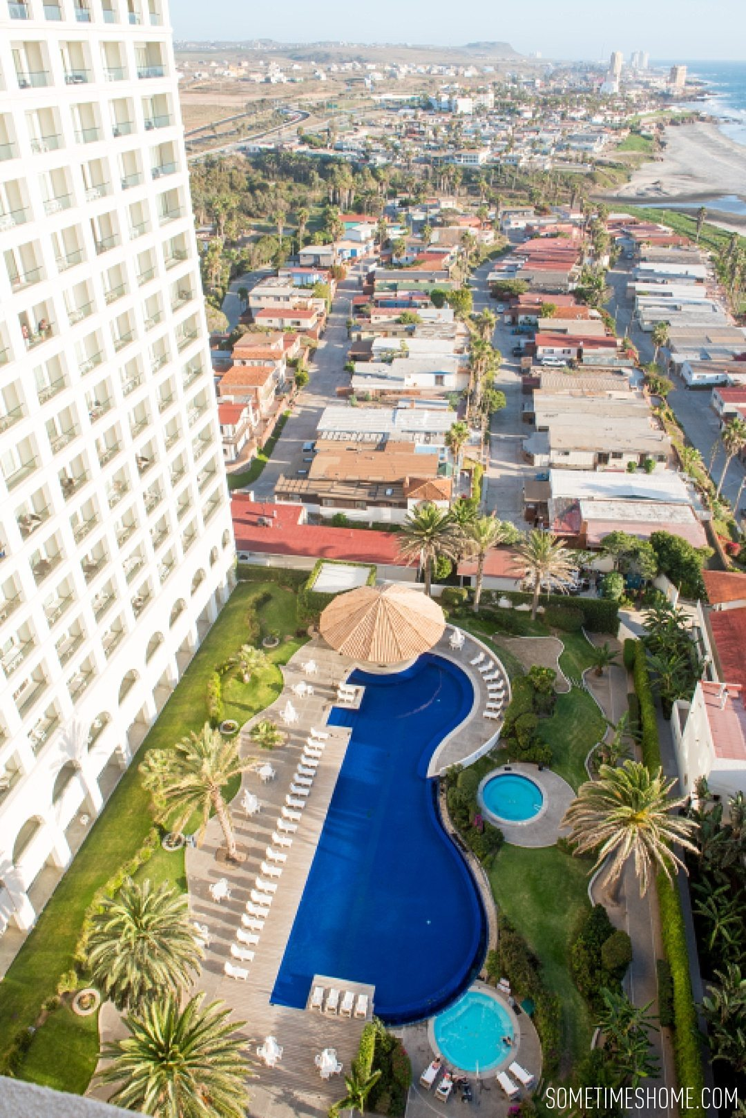 Photo spots at Rosarito Beach Hotel by travel blog Sometimes Home.