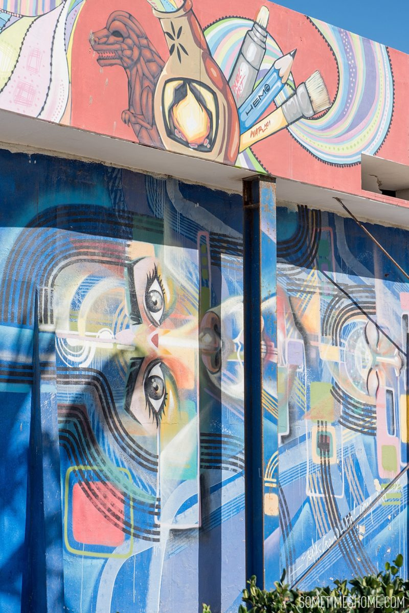 Photo spots at Rosarito beach by travel blog Sometimes Home with great murals and street art in the area.