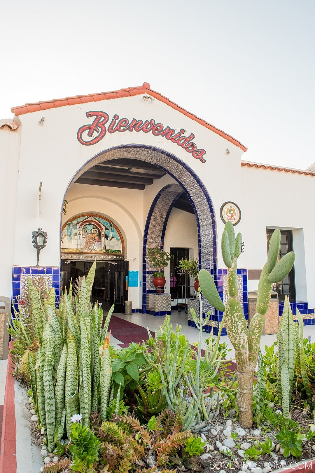 The best photo location in Rosarito Beach, Mexico. This beautiful beach city is in the Baja California peninsula south of San Diego. It's a great day trip that offers sunsets, ocean views and great hotels, resorts and spas. Click through to see picture ideas for your visit! #RosaritoBeach #BajaCalifornia #SanDiegoDayTrip #RosaritoMexico #Mexico