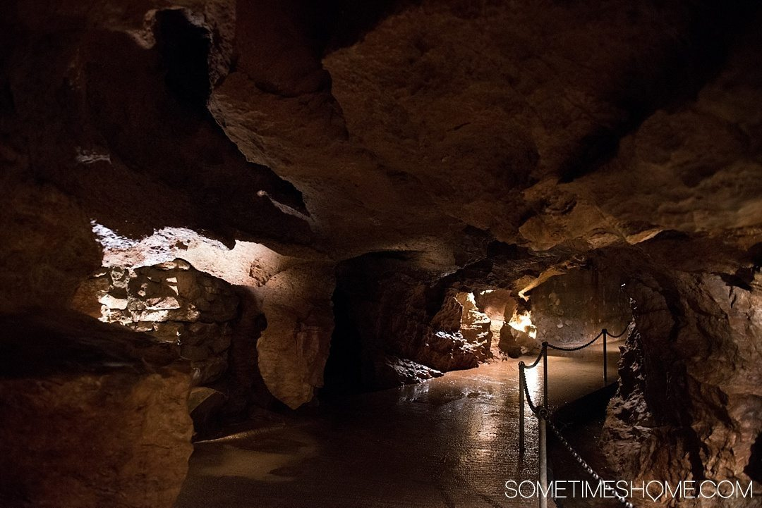 What to do on a rainy day in Boone, NC. Photos and activities on Sometimes Home travel blog. Picture at Linville Caverns.