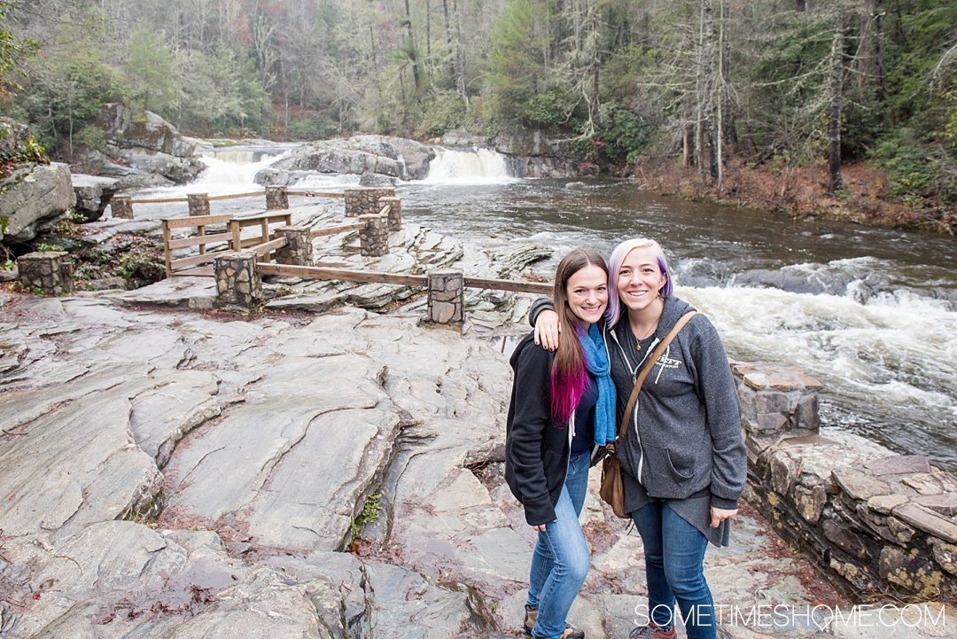 What to do on a rainy day in Boone, NC. Photos and activities on Sometimes Home travel blog. Picture of Linville Falls park and waterfalls.
