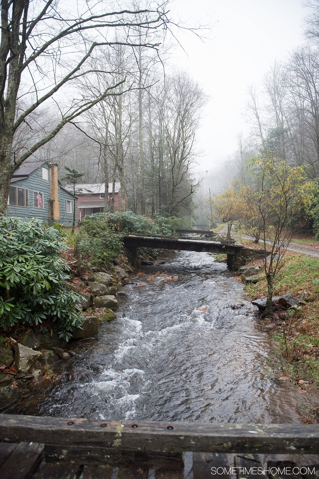 What to do on a rainy day in Boone, NC. Photos and activities on Sometimes Home travel blog. Picture on a photowalk in a suburban Boone neighborhood.