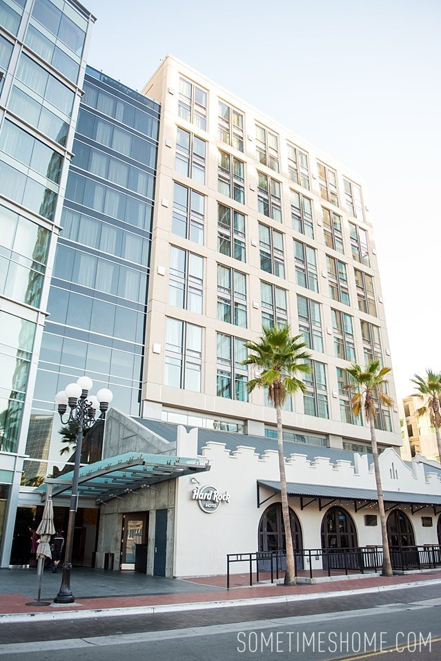 Hard Rock Hotel San Diego photos and information in the Gaslamp Quarter by Sometimes Home travel blog.