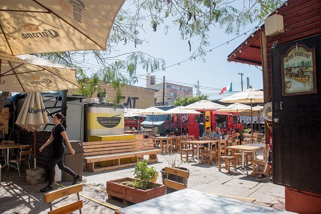 Tijuana food trucks telefonica gastro park for Home design store merrick park