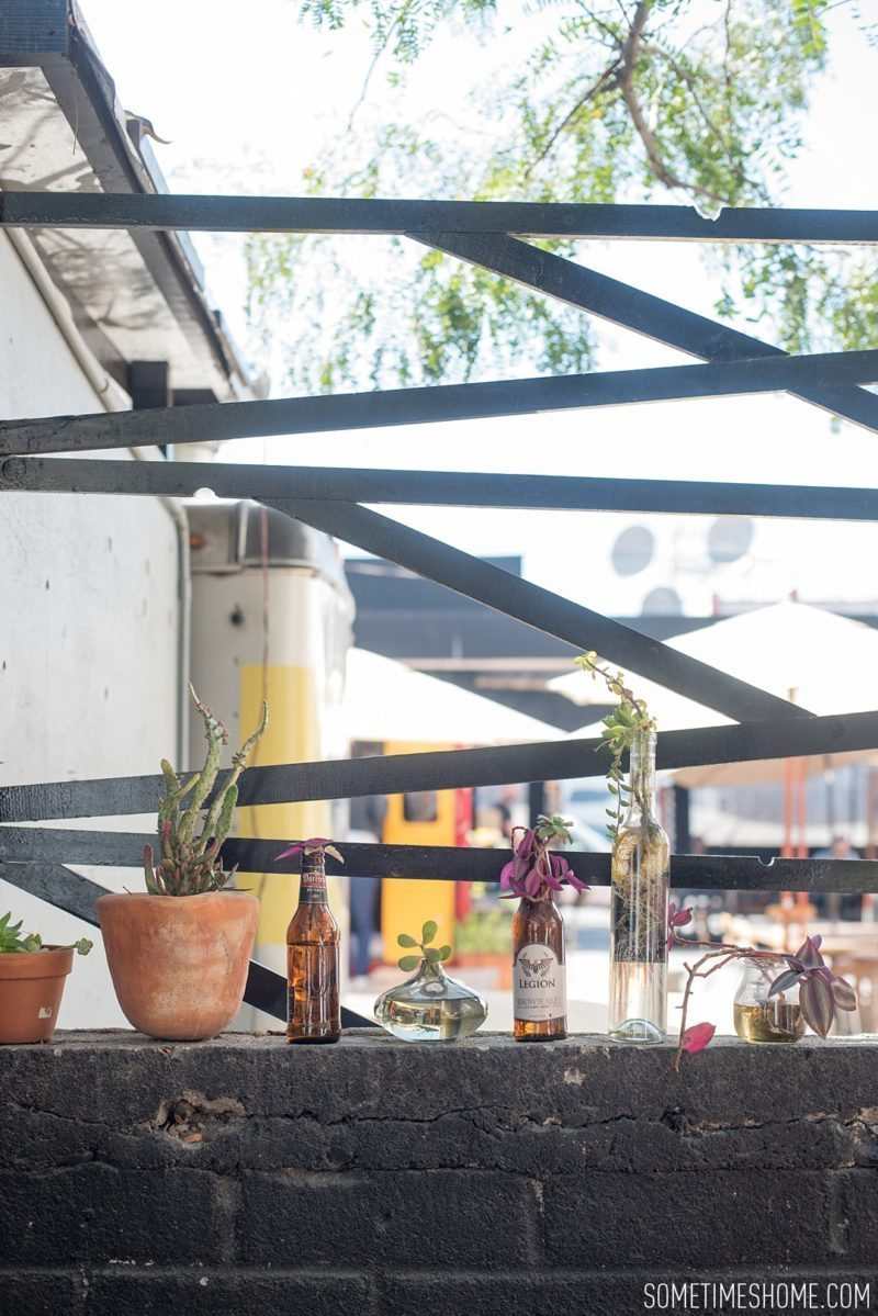 Travel photos and ideas in Tijauna, Mexico with hipster spot Telefonica Gastropark food truck foodie scene on Sometimes Home blog.