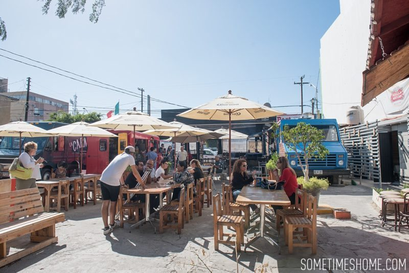 Travel photos and ideas in Tijauna, Mexico with hipster spot Telefonica Gastropark food truck hotspot on Sometimes Home blog.