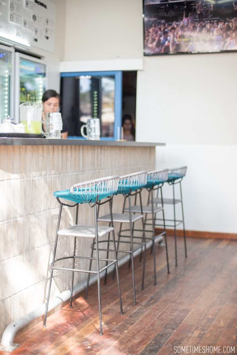 Travel photos and ideas in Tijauna, Mexico with hipster spot Telefonica Gastropark food truck hotspot on Sometimes Home blog. Image of the bar and brewery.