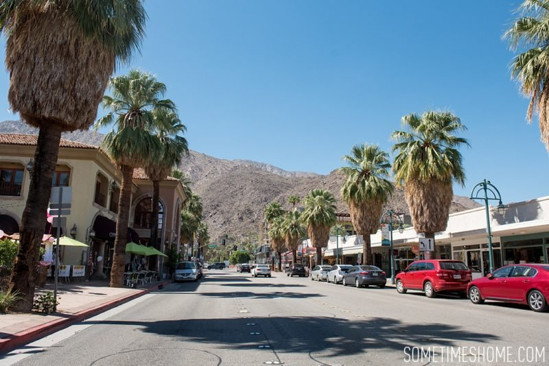 Two days in Palm Springs with photos by Sometimes Home travel blog. Downtown area streetscape and additional area attractions.