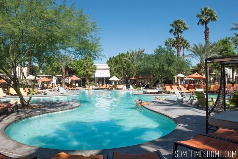 Two days in Palm Springs, California by Sometimes Home travel blog. The Riviera Starwood hotel pool photo.