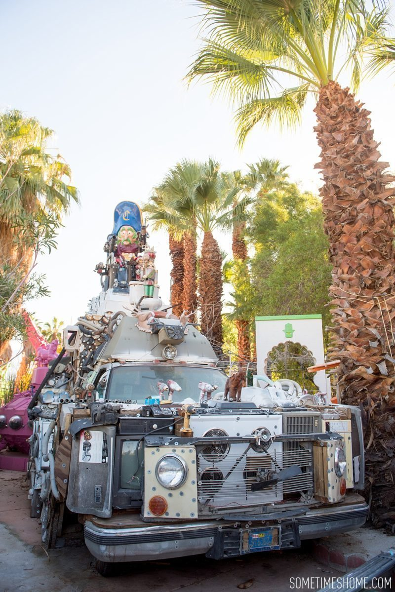 Two days in Palm Springs with photos by Sometimes Home travel blog. Attraction to see called Robolights with images of pieced together trash-to-treasure creations.