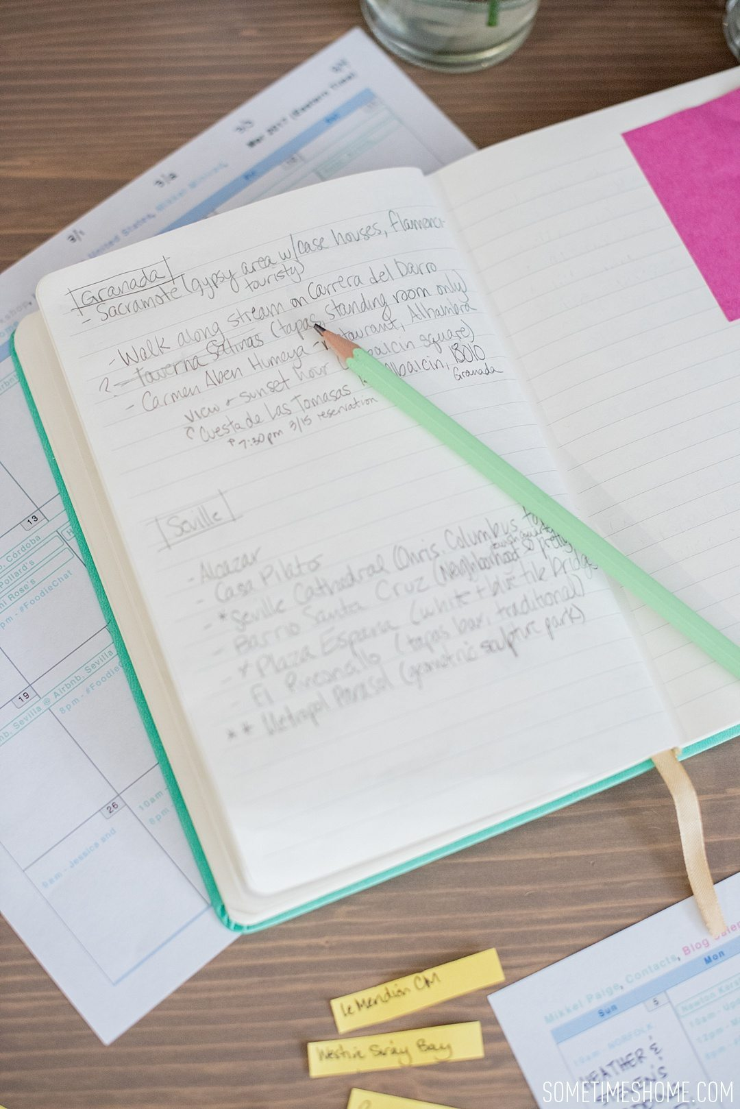 The Ugly Real Truth About My Travel Planning on Sometimes Home travel blog. A notebook can help you stay organized.