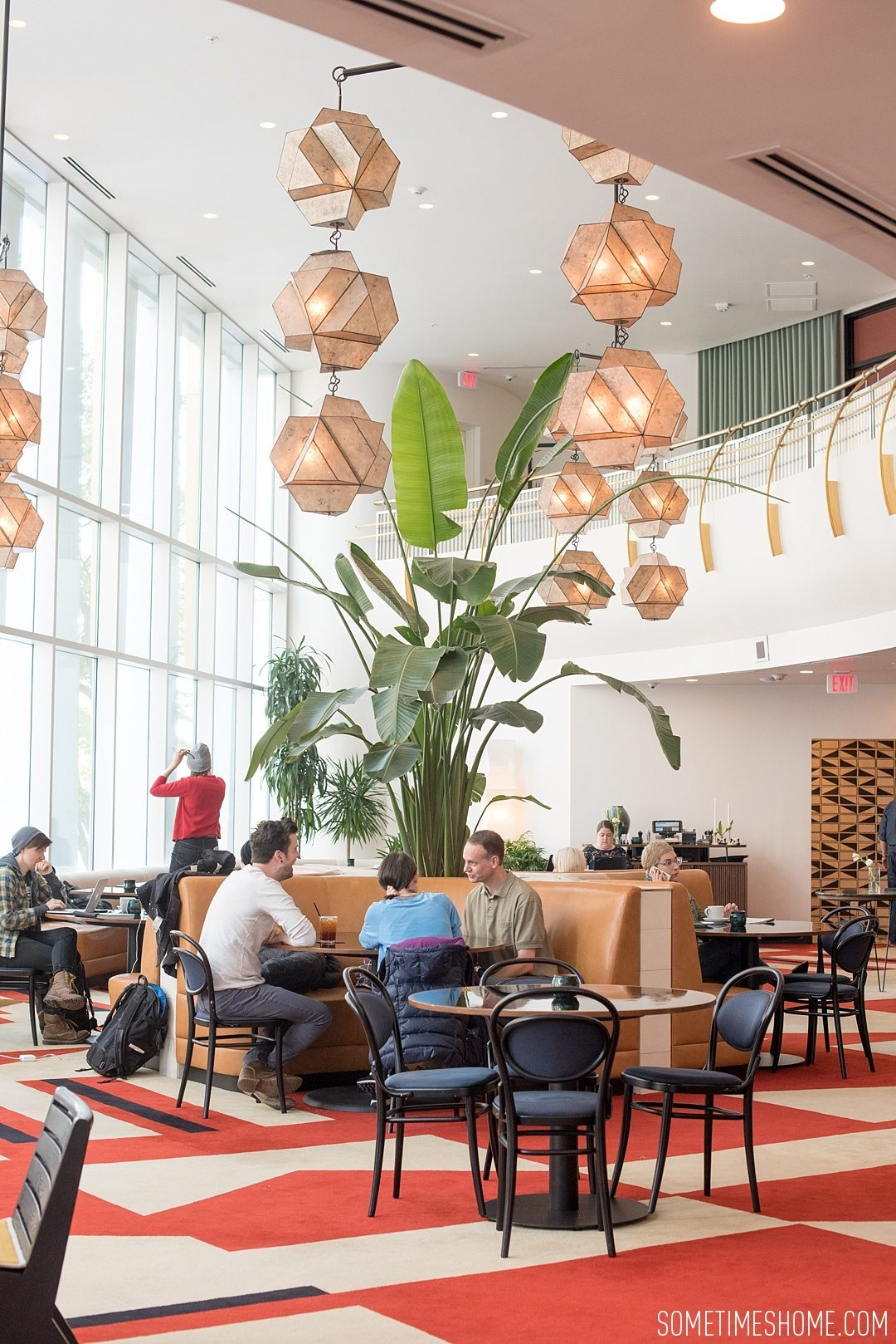 Incredible Downtown Durham Staycation Schedule. Sometimes Home travel advice and information. Photo of the mid-century modern interior of the Durham Hotel.