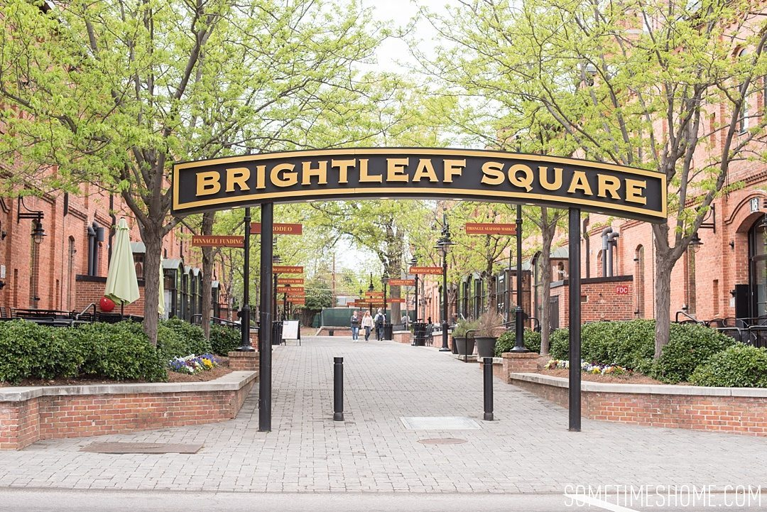 Incredible Downtown Durham Staycation Schedule. Sometimes Home travel advice and information. Photo of Brightleaf Square.