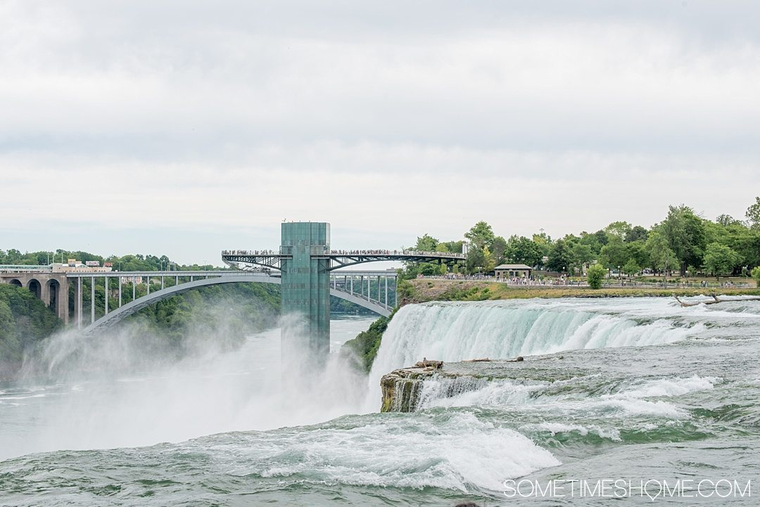 Why a Trip to Buffalo Had Me in Disbelief on Sometimes Home travel blog. Photo of the US side of Niagara Falls.