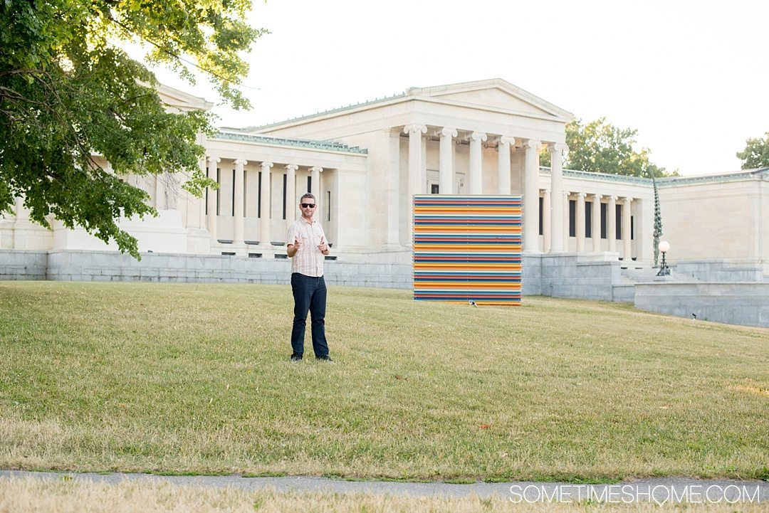 Why a Trip to Buffalo Had Me in Disbelief on Sometimes Home travel blog. Photo of Albright Knox museum in the Buffalo state area on Elmwood Avenue.