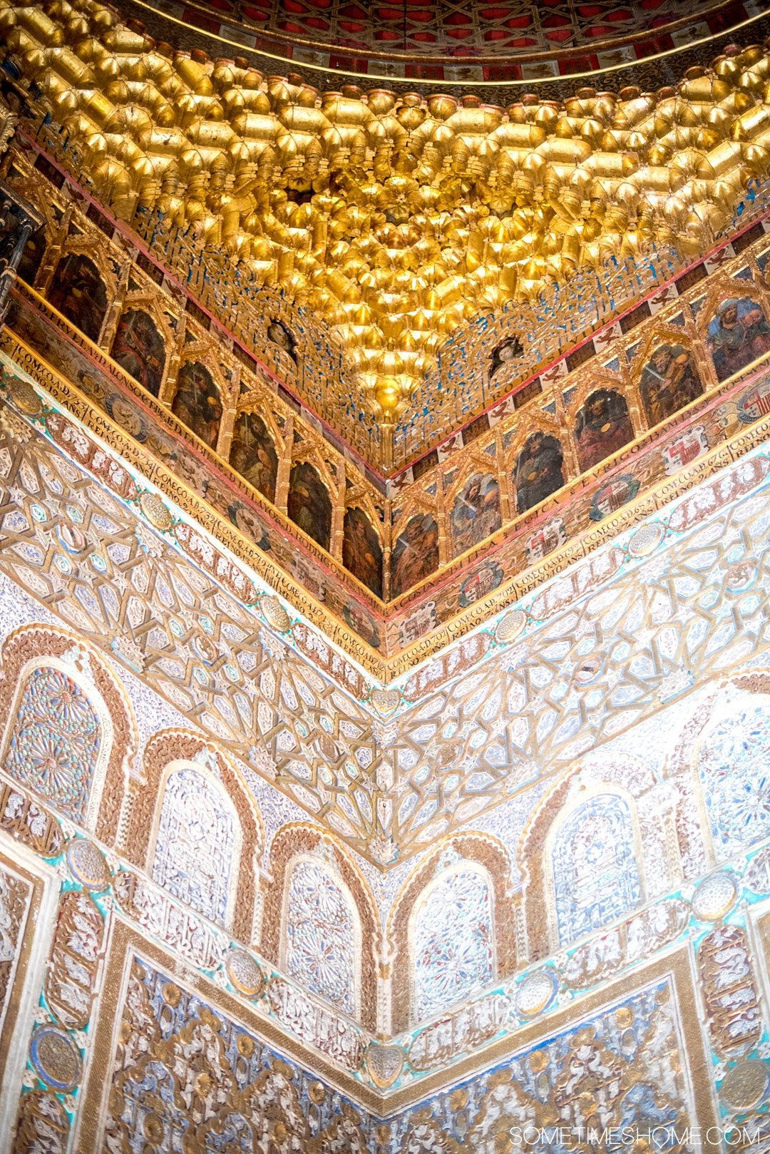 You Haven't Seen Seville Until You've Visited These 3 Sites, by Sometimes Home travel blog. Photo of Real Alcazar and a mudejar architecture style room.