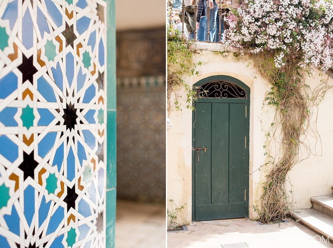 You Haven't Seen Seville Until You've Visited These 3 Sites, by Sometimes Home travel blog. Photo of Real Alcazar colorful tiles and vibrant flowers.