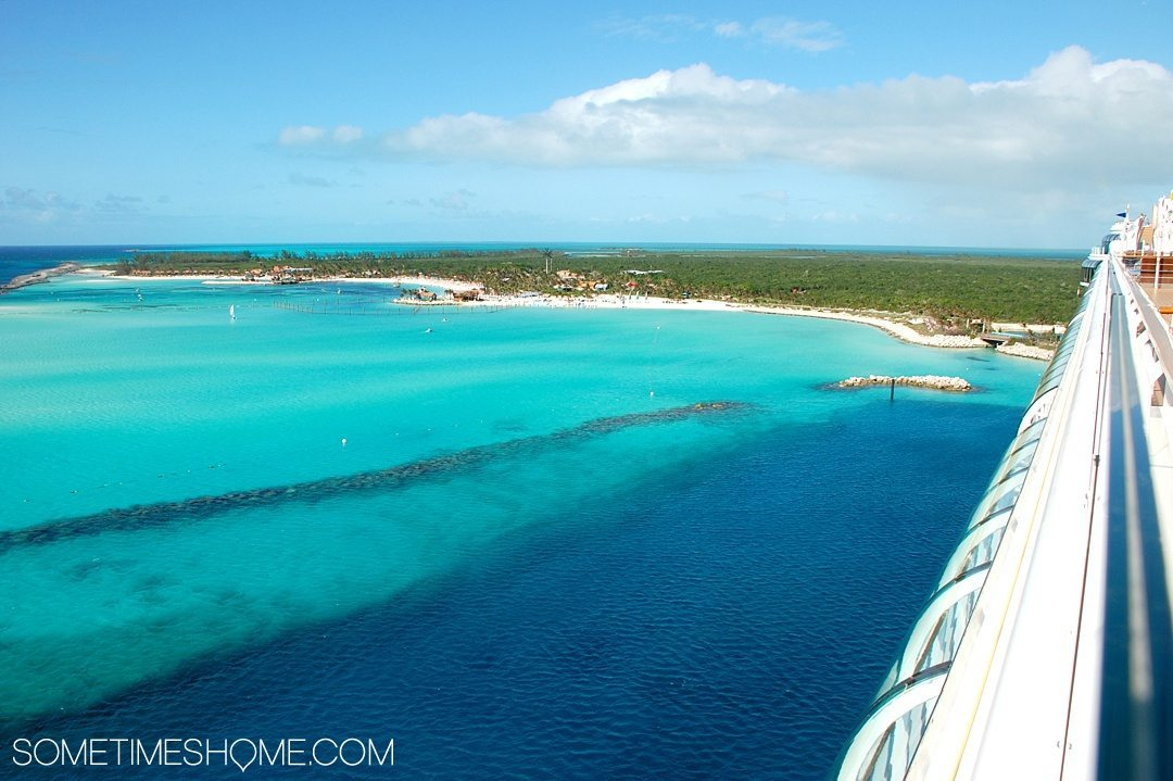 Disney Cruise Line is For Adults Too. Sometimes Home travel blog insight and info into DCL's adult only activities and areas. Photo of Castaway Cay, Disney's private island.