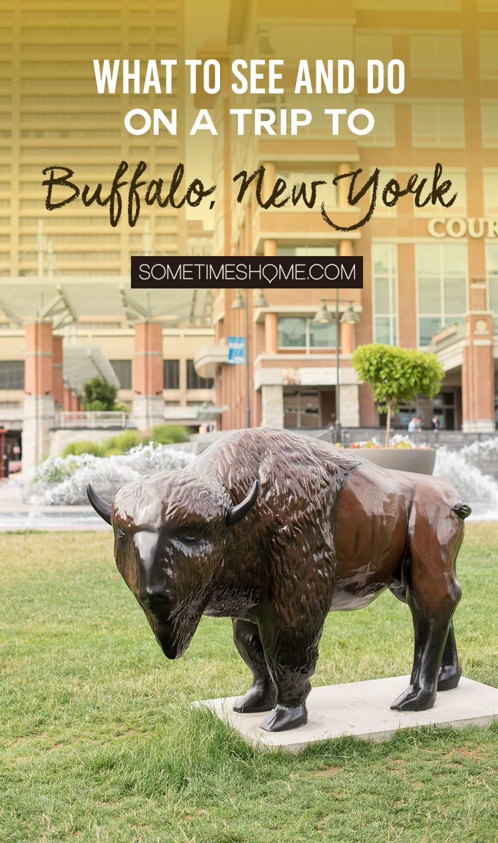 Things to do in Buffalo, NY including great restaurants to get the best food, some top neighborhoods and hidden gems, and architecture whether winter, summer, fall or spring. Sometimes Home posts all the details and photography in this informative article! #BuffaloNY #BuffaloNiagara