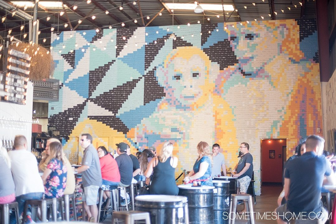 Self Guided Day Tour of the Best Breweries in San Diego on Sometimes Home travel blog. Photos of Modern Times brewery.