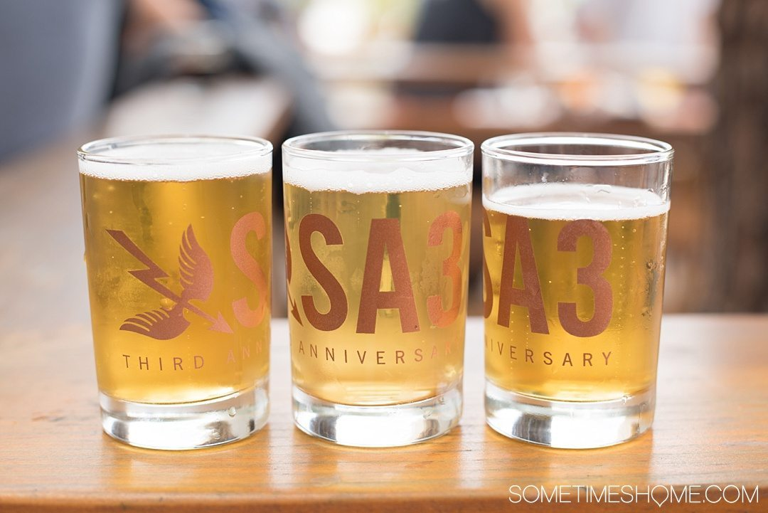 Self Guided Day Tour of the Best Breweries in San Diego on Sometimes Home travel blog. Photos of Saint Archer brewery.