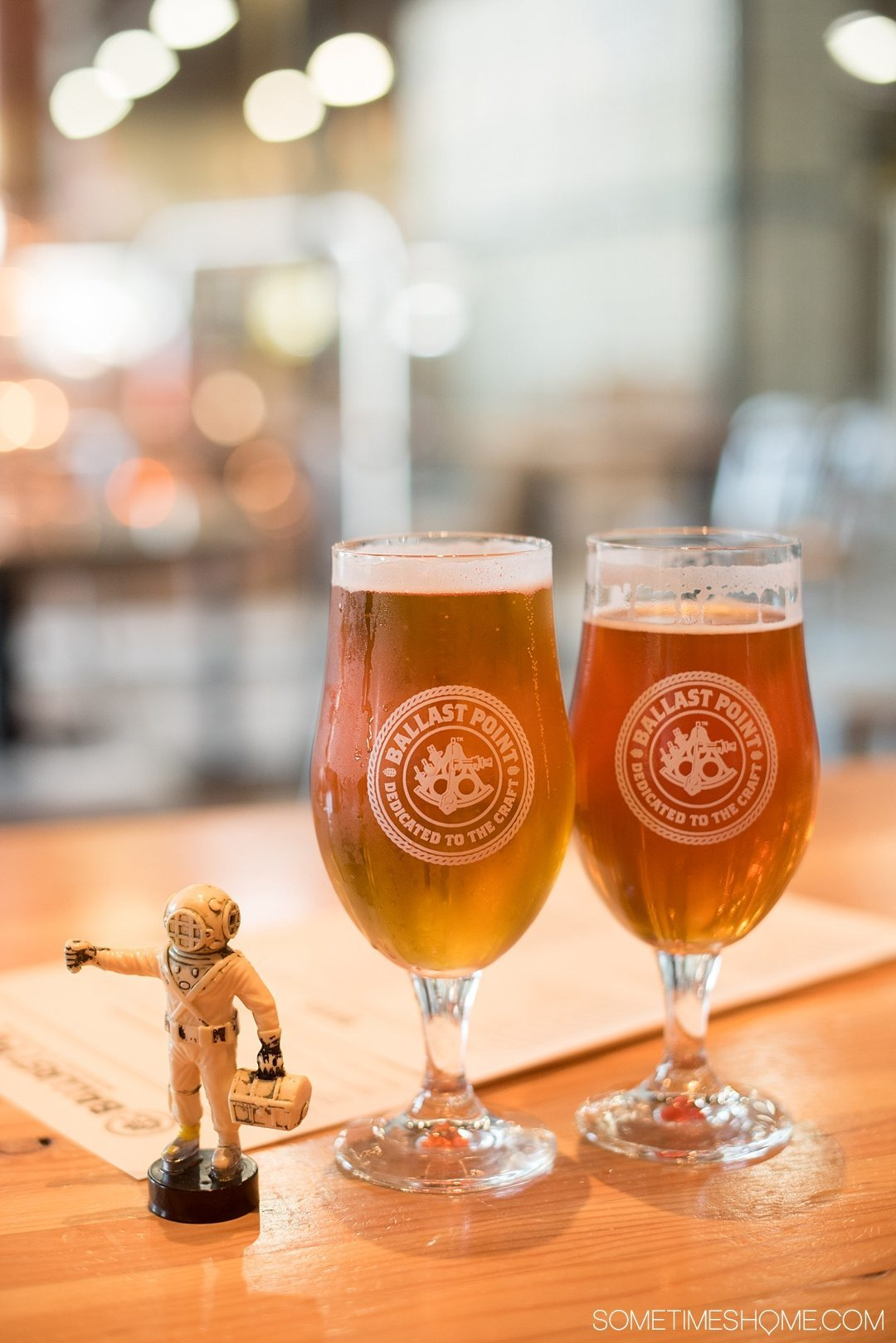 Self Guided Day Tour of the Best Breweries in San Diego on Sometimes Home travel blog. Photos of Ballast Point brewery and tasting room.