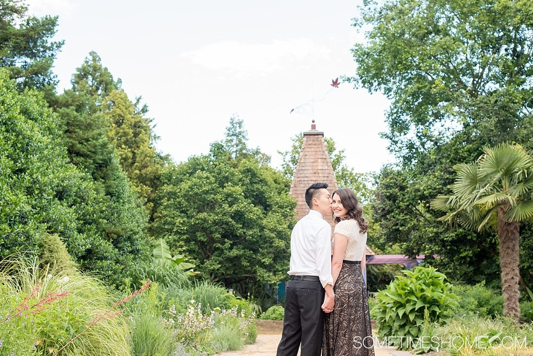10 Best Downtown Raleigh Photography Spots on Sometimes Home travel blog. Photo of JC Raulston Arboretum, part of NC State, with lush landscaping and gardens.