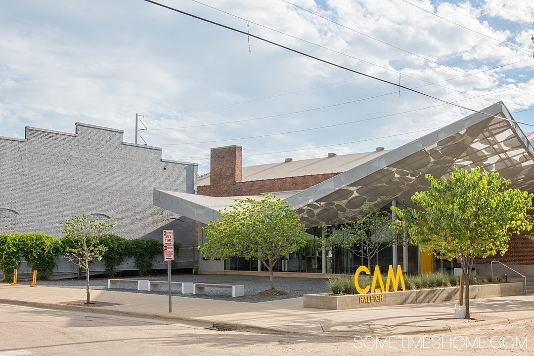 10 Best Downtown Raleigh Photography Spots on Sometimes Home travel blog. Photo of CAM art museum.