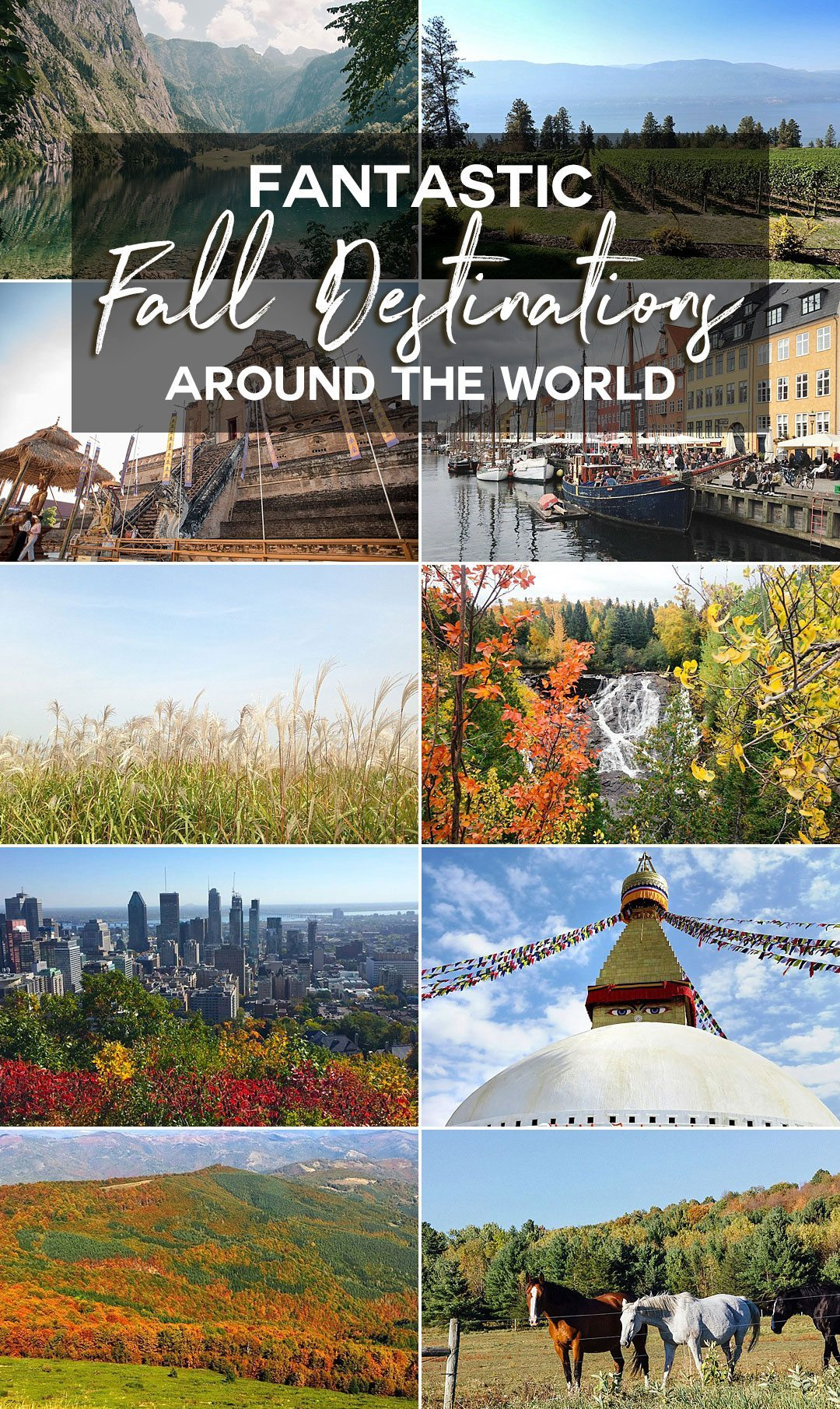 Fantastic Fall Destination Ideas Around the World on Sometimes Home travel blog with several pro travel blogger contributors, including places from Canada to the US, to Asia and New Zealand.