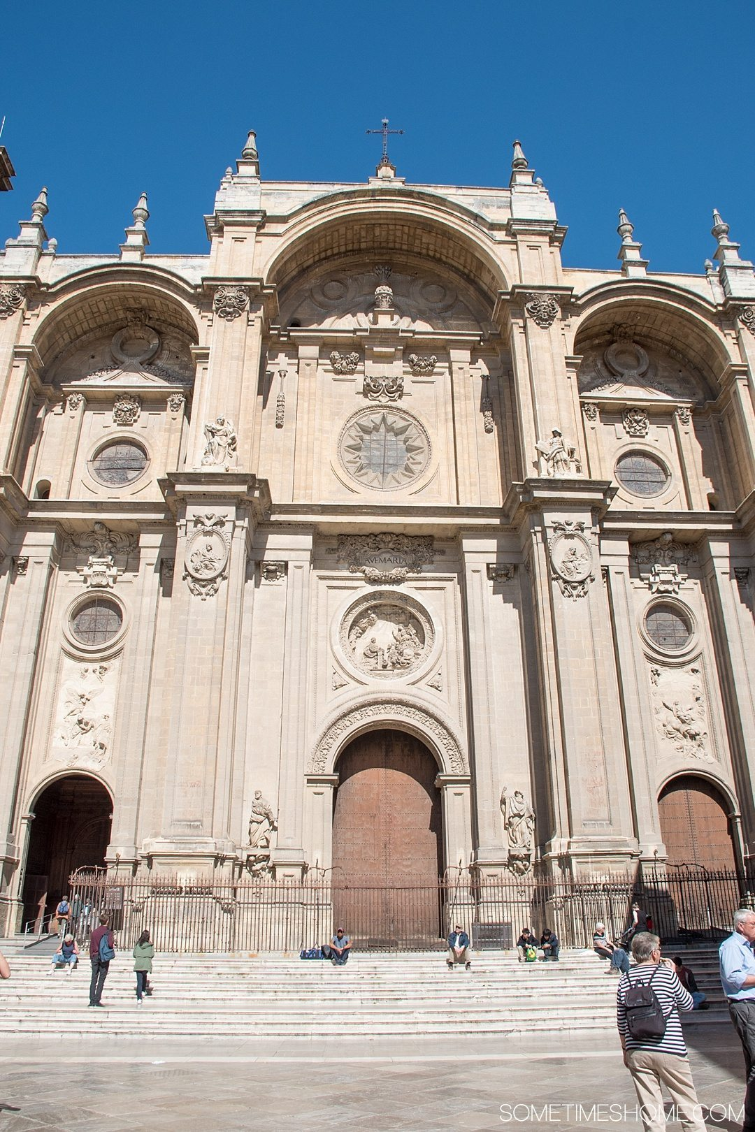One Perfect Day in Granada Spain. Photos and itinerary on Sometimes Home travel blog. Picture of the Cathedral.