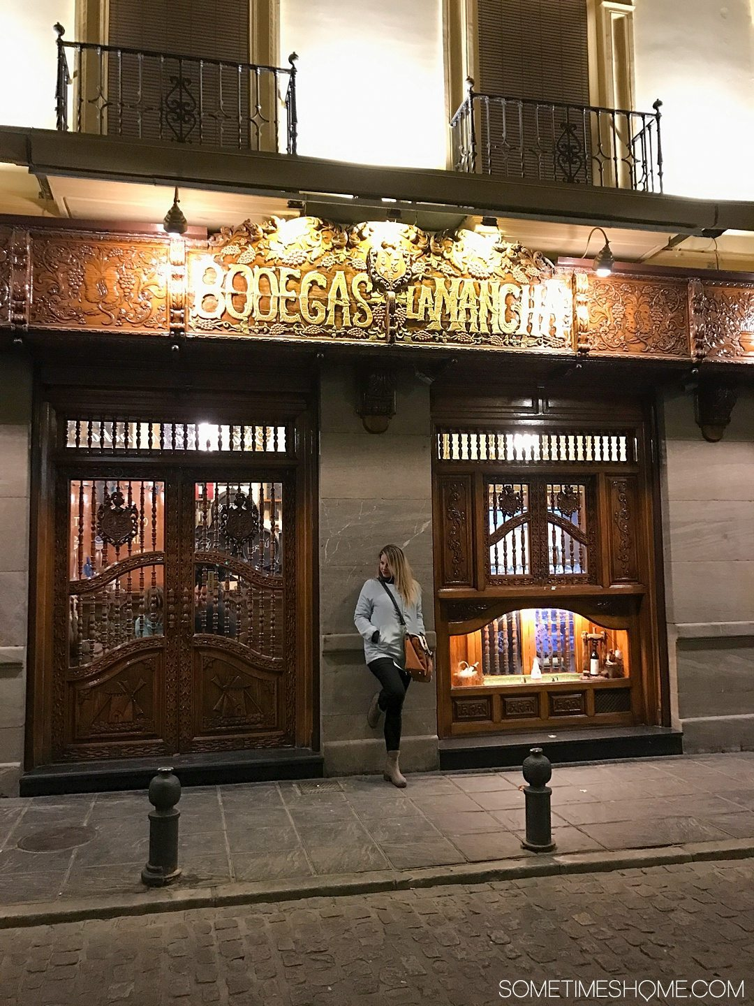 One Perfect Day in Granada Spain. Photos and itinerary on Sometimes Home travel blog. Picture of Bodegas La Mancha restaurant.