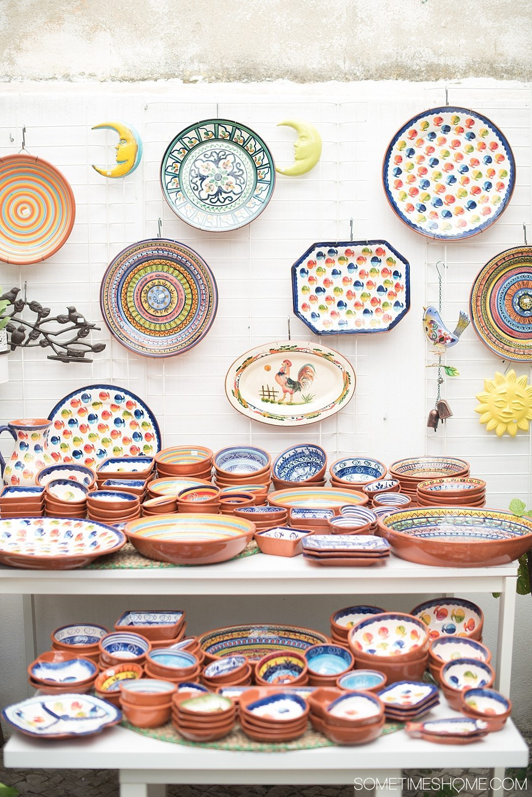 Why Lisbon is the Best City in Europe on Sometimes Home travel blog. Photo of hand painted pottery.