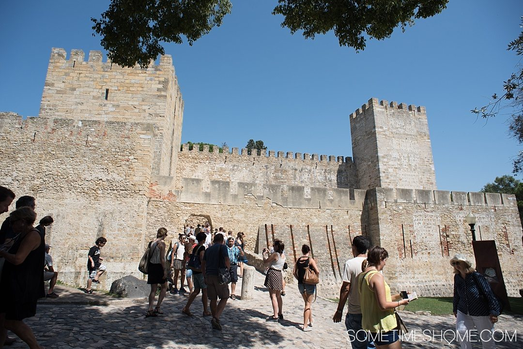 Why Lisbon is the Best City in Europe on Sometimes Home travel blog. Photo of Sao Jorge Castle.