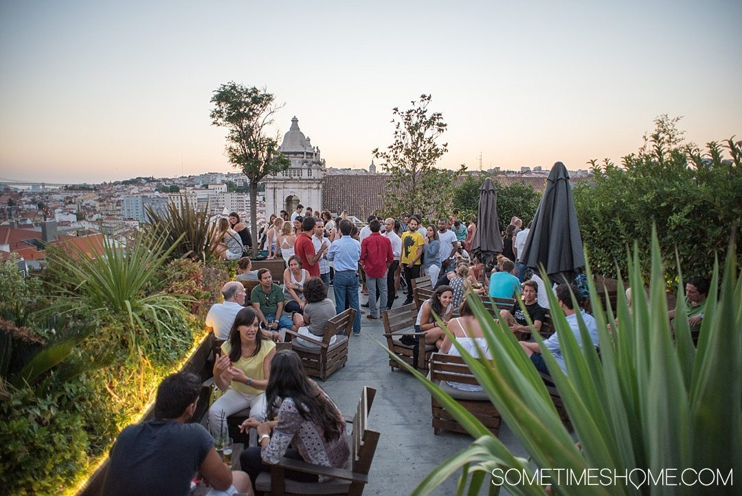 Why Lisbon is the Best City in Europe on Sometimes Home travel blog. Photo from the rooftop bar Park.