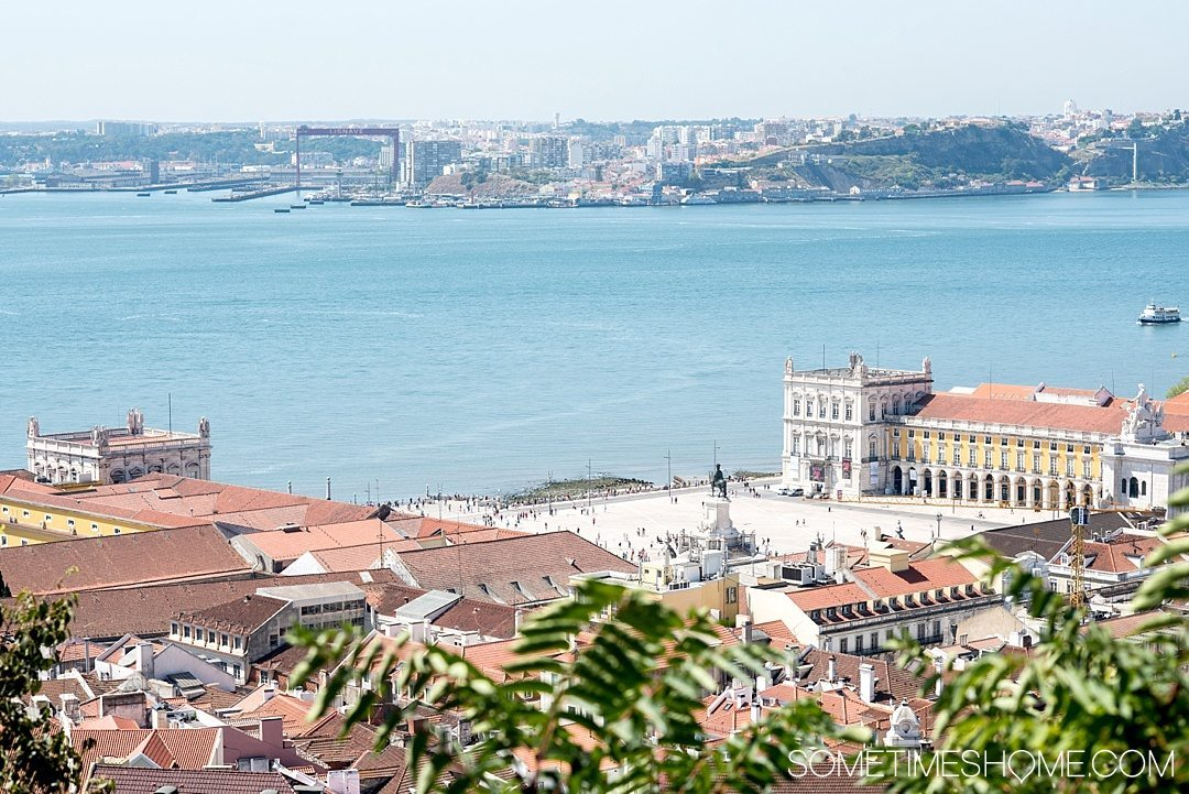 Why Lisbon is the Best City in Europe on Sometimes Home travel blog. Aerial photo of Commerce Square.